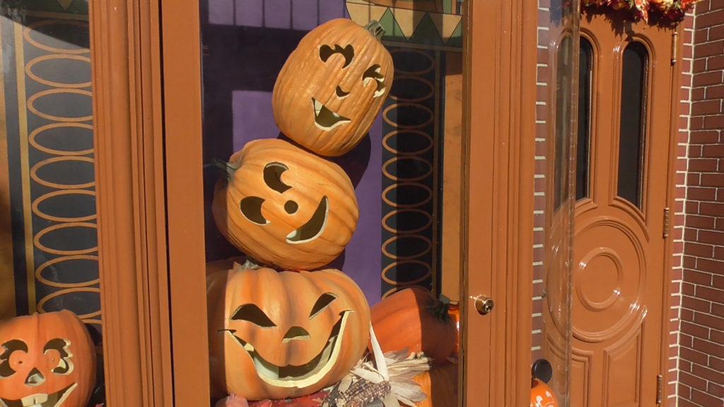 Pumpkins in the windows