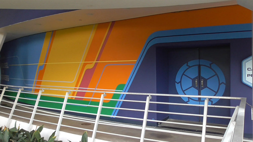 New old-school Epcot-esqe icon for Carousel of Progress on the doors