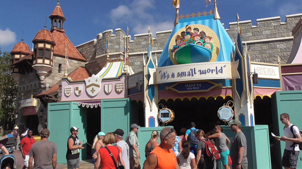 Very minor work going on at It's a Small World