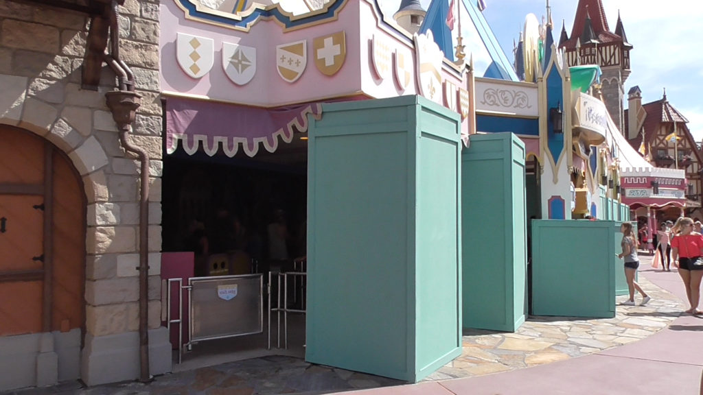 The work may already be done, with walls up to keep guests from touching wet paint while it dries