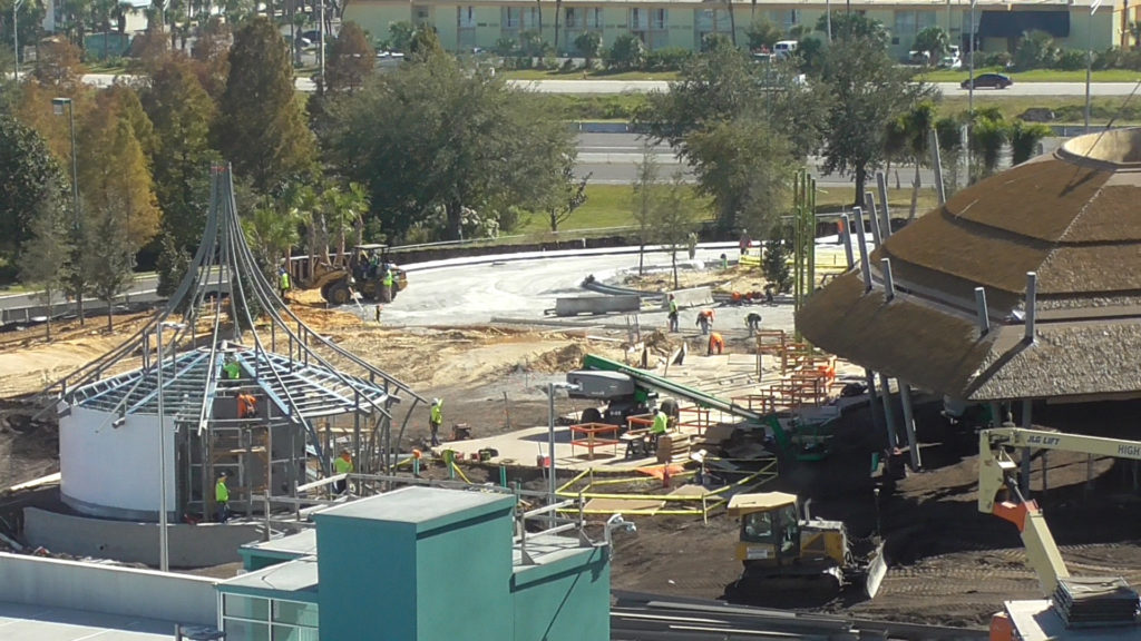 Future Volcano Bay park entrance