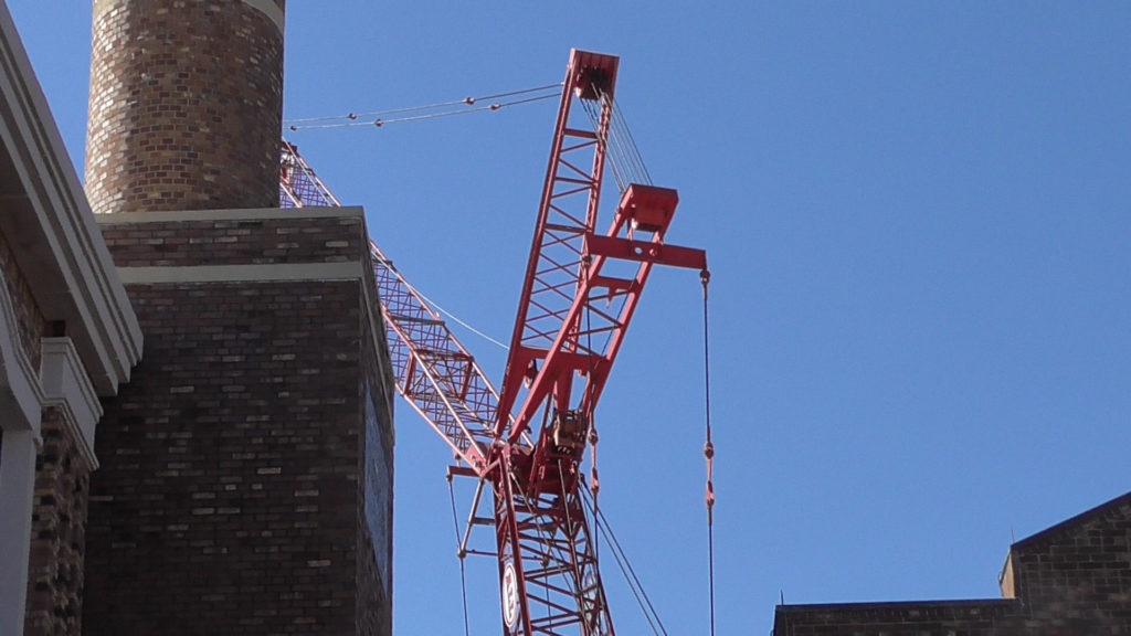 Crane seen overhead