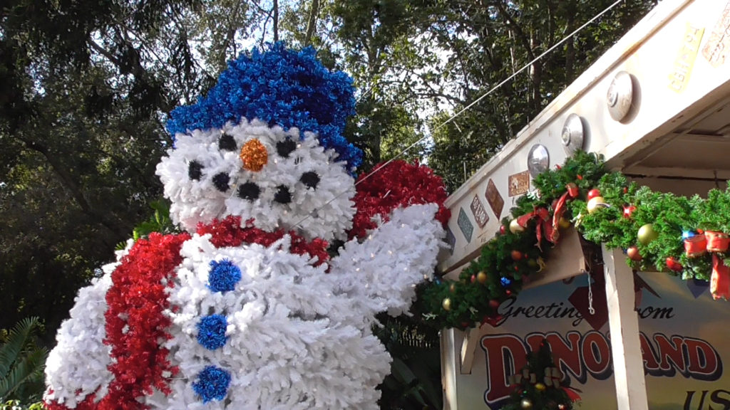Fuzzy snowman at Dino-Rama