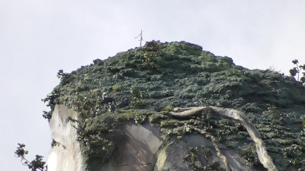 Super close up view of the top of the floating mountains