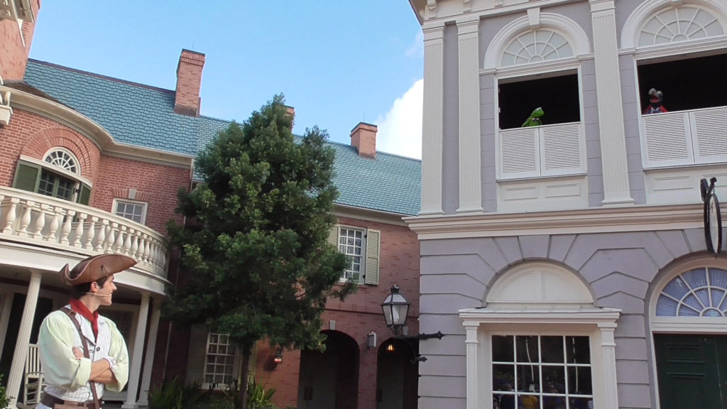 The new street-side Muppet show in Liberty Square is offering showtimes daily